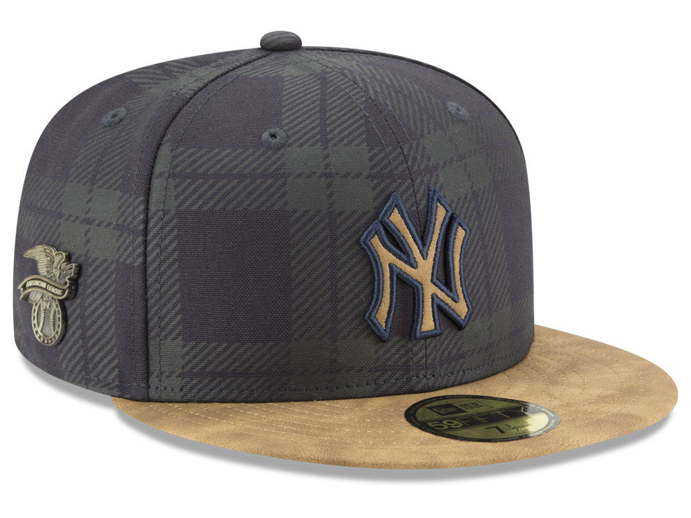New York Yankees New Era MLB Plaid 59FIFTY Cap  3e2bae594