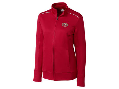 San Francisco 49ers Cutter & Buck NFL Women's CB WeatherTec Ridge Full Zip