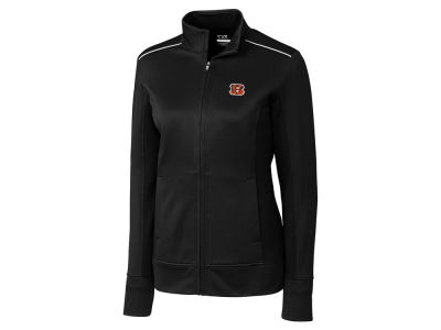 Cincinnati Bengals Cutter & Buck NFL Women's CB WeatherTec Ridge Full Zip