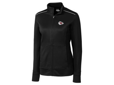 Kansas City Chiefs Cutter & Buck NFL Women's CB WeatherTec Ridge Full Zip
