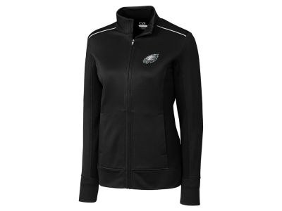Philadelphia Eagles Cutter & Buck NFL Women's CB WeatherTec Ridge Full Zip