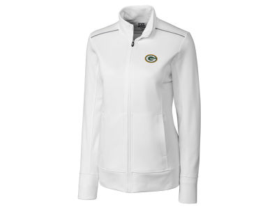 Green Bay Packers Cutter & Buck NFL Women's CB WeatherTec Ridge Full Zip