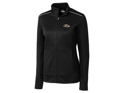 Baltimore Ravens Cutter & Buck NFL Women's CB WeatherTec Ridge Full Zip