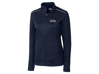 Seattle Seahawks Cutter & Buck NFL Women's CB WeatherTec Ridge Full Zip