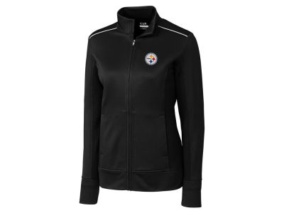 Pittsburgh Steelers Cutter & Buck NFL Women's CB WeatherTec Ridge Full Zip