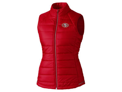 San Francisco 49ers Cutter & Buck NFL Women's Post Alley Vest