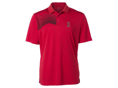 Los Angeles Angels Cutter & Buck MLB Men's Glen Acres Polo
