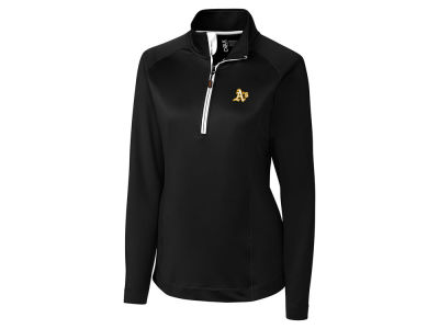 Oakland Athletics Cutter & Buck MLB Women's Jackson Half Zip Pullover