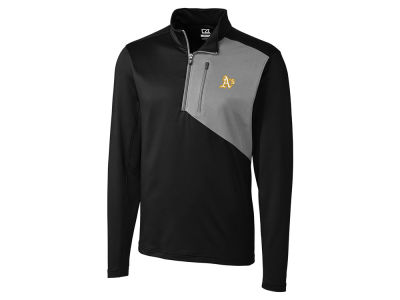Oakland Athletics Cutter & Buck MLB Men's CB DryTec Shaw Hybrid Half Zip Pullover