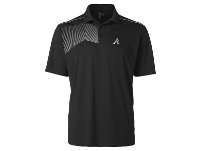 Atlanta Braves Cutter & Buck MLB Men's Glen Acres Polo