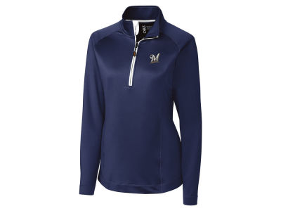 Milwaukee Brewers Cutter & Buck MLB Women's Jackson Half Zip Pullover