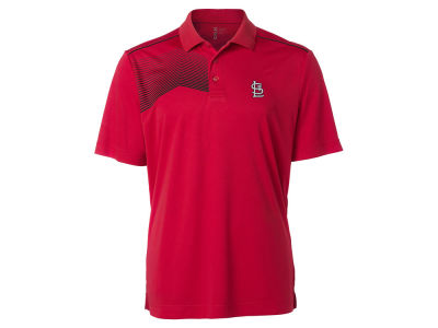 St. Louis Cardinals Cutter & Buck MLB Men's Glen Acres Polo