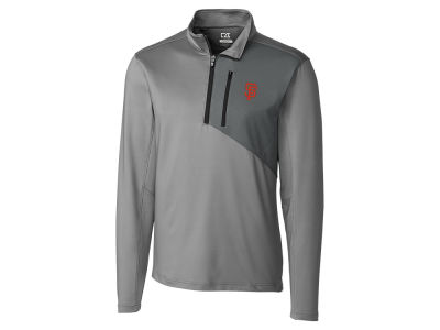 San Francisco Giants Cutter & Buck MLB Men's CB DryTec Shaw Hybrid Half Zip Pullover