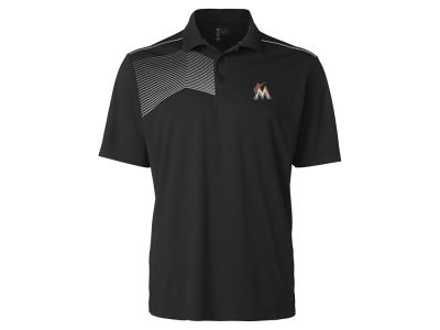 Miami Marlins Cutter & Buck MLB Men's Glen Acres Polo