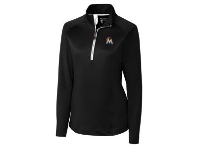 Miami Marlins Cutter & Buck MLB Women's Jackson Half Zip Pullover