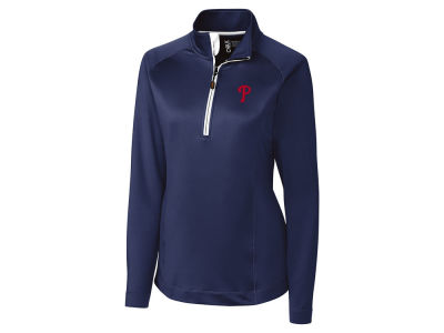 Philadelphia Phillies Cutter & Buck MLB Women's Jackson Half Zip Pullover