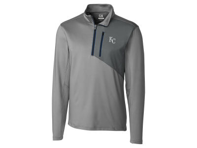 Kansas City Royals Cutter & Buck MLB Men's CB DryTec Shaw Hybrid Half Zip Pullover