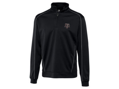 Texas A&M Aggies Cutter & Buck NCAA Men'sCB DryTec Edge Half Zip