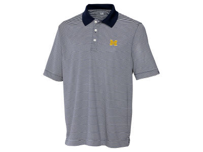 Michigan Wolverines Cutter & Buck NCAA Men's CB DryTec Trevor Stripe Polo