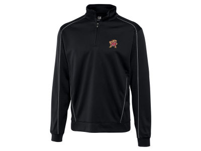 Maryland Terrapins Cutter & Buck NCAA Men'sCB DryTec Edge Half Zip