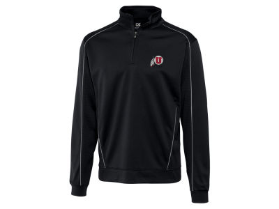 Utah Utes Cutter & Buck NCAA Men'sCB DryTec Edge Half Zip