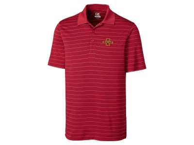 Iowa State Cyclones Cutter & Buck NCAA Men's Franklin Stripe Polo