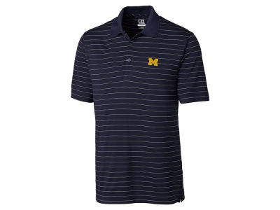 Michigan Wolverines Cutter & Buck NCAA Men's Franklin Stripe Polo