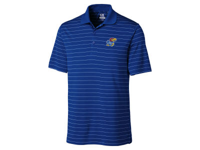 Kansas Jayhawks Cutter & Buck NCAA Men's Franklin Stripe Polo