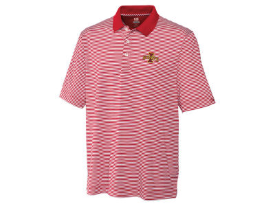 Iowa State Cyclones Cutter & Buck NCAA Men's CB DryTec Trevor Stripe Polo