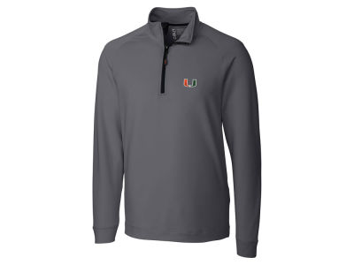 Miami Hurricanes Cutter & Buck NCAA Men's Jackson Half Zip Pullover