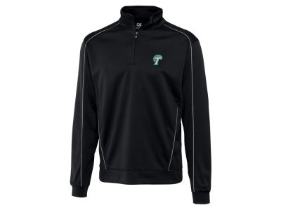 Tulane Green Wave Cutter & Buck NCAA Men'sCB DryTec Edge Half Zip