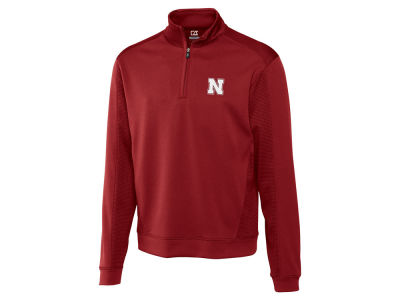 Nebraska Cornhuskers Cutter & Buck NCAA Men'sCB DryTec Edge Half Zip