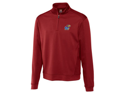 Kansas Jayhawks Cutter & Buck NCAA Men'sCB DryTec Edge Half Zip