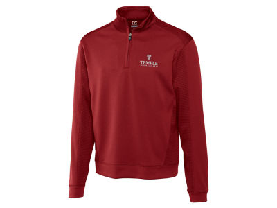 Temple Owls Cutter & Buck NCAA Men'sCB DryTec Edge Half Zip