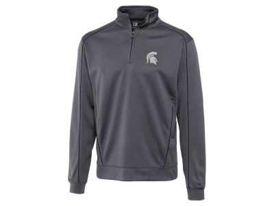 Michigan State Spartans Cutter & Buck NCAA Men'sCB DryTec Edge Half Zip