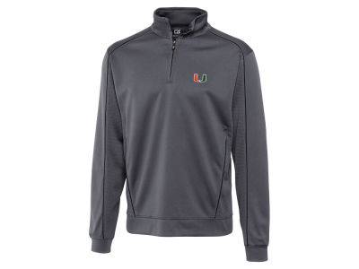 Miami Hurricanes Cutter & Buck NCAA Men'sCB DryTec Edge Half Zip