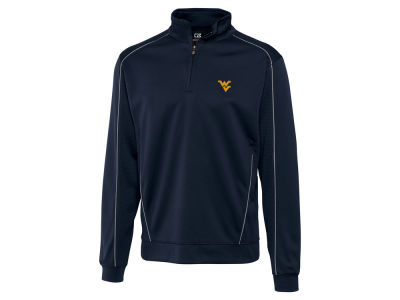 West Virginia Mountaineers Cutter & Buck NCAA Men's DryTec Edge Half Zip