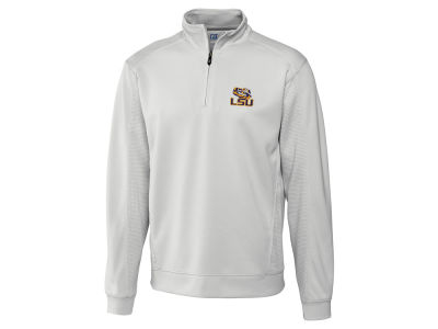 LSU Tigers Cutter & Buck NCAA Men'sCB DryTec Edge Half Zip
