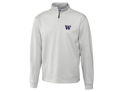 Washington Huskies Cutter & Buck NCAA Men'sCB DryTec Edge Half Zip