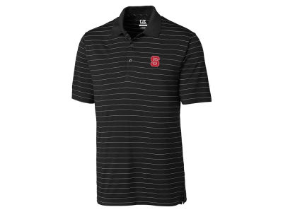North Carolina State Wolfpack Cutter & Buck NCAA Men's Franklin Stripe Polo