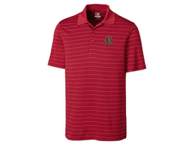 Cornell University Big Red Cutter & Buck NCAA Men's Franklin Stripe Polo