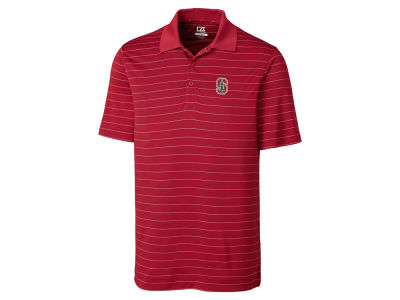 Stanford Cardinal Cutter & Buck NCAA Men's Franklin Stripe Polo