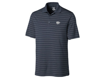 Kansas State Wildcats Cutter & Buck NCAA Men's Franklin Stripe Polo