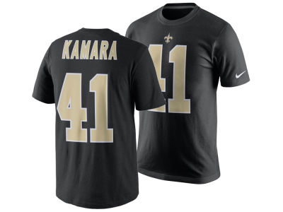 New Orleans Saints Alvin Kamara Nike NFL Men's Pride Name and Number T-Shirt