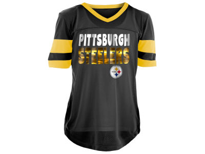 c8db2db27 Pittsburgh Steelers 5th   Ocean NFL Youth Girls Foil Football Jersey