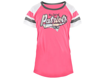 1e1d31b5a New England Patriots 5th   Ocean NFL Youth Girls Pink Foil T-Shirt