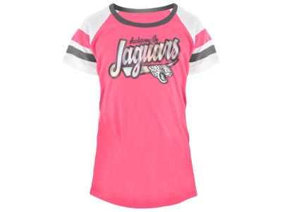 c4539cda0 Jacksonville Jaguars 5th   Ocean NFL Youth Girls Pink Foil T-Shirt
