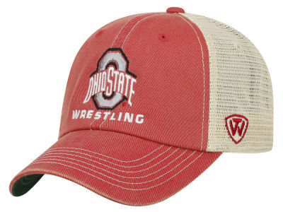 Ohio State Buckeyes Top of the World NCAA Wrestling Mesh Adjustable Cap
