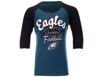 09b046915 Philadelphia Eagles 5th   Ocean NFL Youth Girls Raglan T-Shirt
