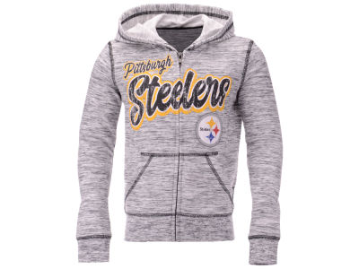 Pittsburgh Steelers 5th & Ocean NFL Youth Girls Space Dye Hoodie